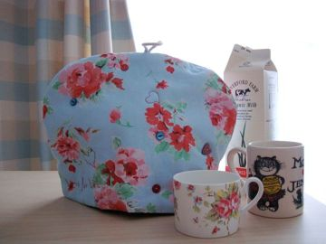 My tea cosy's first cup of tea