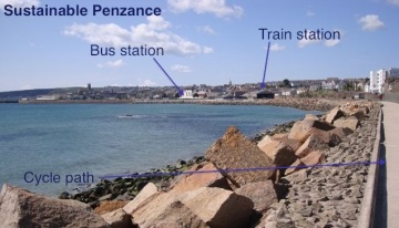 Buses, trains and bikes in Penzance